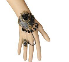 $3.75  Vintage Black Lace Black Flower Pendant Bracelet Ring Jewelry Set http://www.eozy.com/vintage-black-lace-black-flower-pendant-bracelet-ring-jewelry-set.html