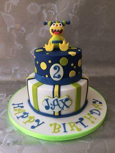 Henry Hugglemonster cake 2nd Birthday, Birthday Ideas, Birthday Parties, Henry Hugglemonster, Cake Stuff, 1st Birthdays, Decorated Cakes, Party Cakes, Noodles
