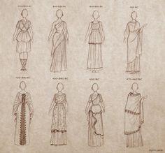 artistic-annihilation:  rafawriter:  Ancient Greek Dresses by Ninidu  yes. yep. this.
