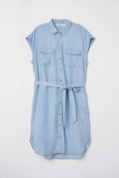 H M Lyocell Dress - Blue Ceinture À Nouer, Robe, Robes Bleues, Robes  Formelles e025350d785
