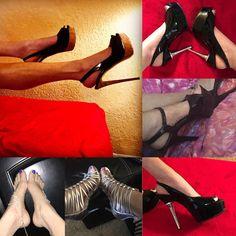 Milf struts in heels