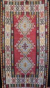 098 Kayseri Yahyali Kilim 25 yrs 185x105cm Mislaid! Sold?