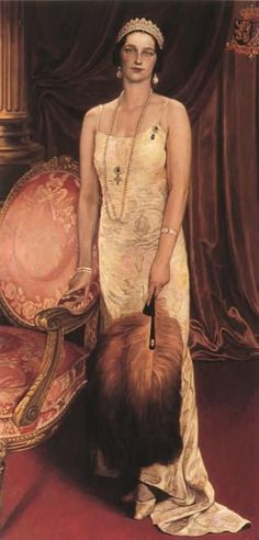 Queen Astrid of Belgium - Leon de Smet 1935 King Leopold, Swedish Royalty, Flapper Style, Royal Jewels, Prince And Princess, Beautiful Paintings, Belle Photo, Art History, The Past