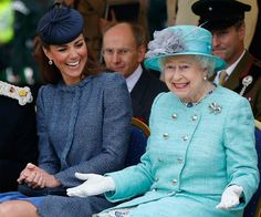 Queen Elizabeth II celebrates 62 years since coronation:Like her husband, Queen Elizabeth has a wicked sense of humour. Here she shares a laugh with Kate Middleton.