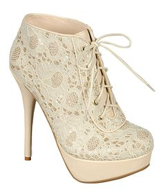 Love this Beige Covina Bootie by Bamboo on #zulily! #zulilyfinds