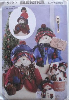 Winter Snowman Sewing Pattern  Snowflake Family  28