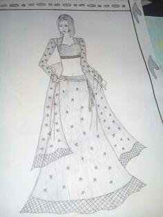 Dress Design Drawing, Dress Design Sketches, Fashion Design Books, Fashion Design Drawings, Fashion Drawing Dresses, Fashion Illustration Dresses, Girly Drawings, Art Drawings Sketches Simple, Fashion Drawing Tutorial