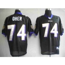 Ravens #74 Michael Oher Black Stitched NFL Jersey