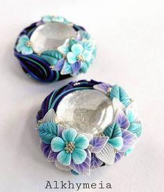 From Daniela D'Uva https://flic.kr/p/EWLpim | Gocce in Azzurro e Viola | My new little floral pendants :)  Follow me on fb :)