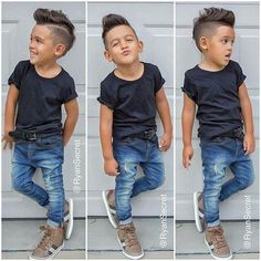 This Cool kids & boys mohawk haircut hairstyle ideas 39 image is part from 60 Awesome Cool Kids and Boys Mohawk Haircut Ideas gallery and article, click read it bellow to see high resolutions quality image and another awesome image ideas. Fashion Kids, Toddler Boy Fashion, Little Boy Fashion, Toddler Boy Outfits, Toddler Boys, Kids Boys, Fashion Clothes, Fashion Fashion, Teen Boys