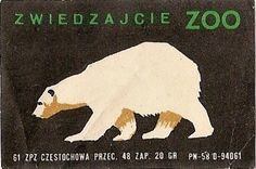 Zwiedzajcie Zoo - Polar Bear Polar Bear Images, Polar Bears, Graphic Design Typography, Graphic Art, Vintage Prints, Vintage Posters, Polar Bear Illustration, Matchbox Art, Light My Fire