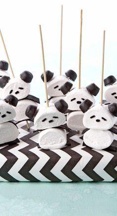 Marshmallow pandas