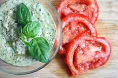 Basil White Bean Hummus -- Lighter and More Flavorful than the Reg