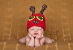 Very Hungry Caterpillar Hat Pattern - Crochet - Newborn - Photo Prop - Hat and Cocoon - Baby Shower - Accessory - Costume by ShaynaMade on Etsy https://www.etsy.com/listing/166591192/very-hungry-caterpillar-hat-pattern