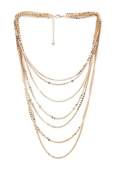 8.Shimmer & Shine Layered Necklace | FOREVER21 - 1000087309