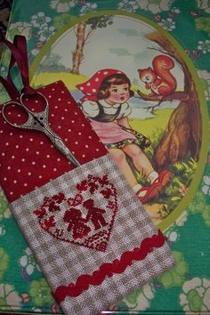 Blackbird Designs, Small Sewing Projects, Covered Boxes, Alsace, Black Forest, Red Riding Hood, Little Red, Pin Cushions, Blackwork