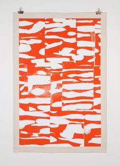 "blogdamientran: "" Level quatre - III Screen print on fabric 120 x 80 cm """