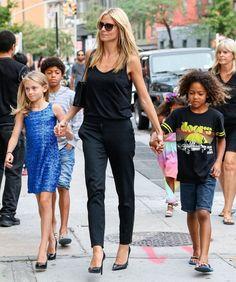 Heidi Klum Photos: Heidi Klum Walking Thorugh SoHo With Her Kids