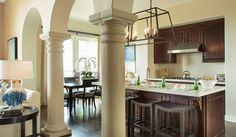 Elegant design for a coastal getaway.   BarclayButeraInteriors, InteriorDesign, Beach, Coast, Terranea, Kitchen, Dining