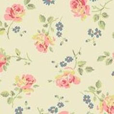 Cut Roses Cotton Duck - OLD WHITE - Cream Cath Kidston cotton fabric with vintage pink and blue flower print Cath Kidston Curtains, Cath Kidston Wallpaper, Cath Kidston Fabric, Fabric Wallpaper, Pattern Wallpaper, Fabric Patterns, Flower Patterns, Print Patterns, Flower Designs