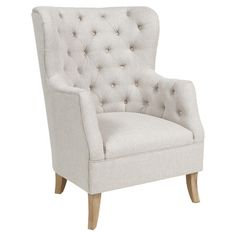 Cafer Arm Chair in Light Cream