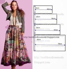 SAIA FÁCIL DE CORTAR E FAZER - 2 | Moldes Moda por Medida | Bloglovin'