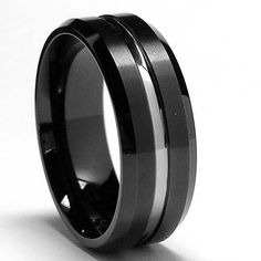 8MM Two Tone High Polish / Matte Finish Men's Tungsten Ring Wedding Band Sizes 7 to 15: http://www.amazon.com/Polish-Matte-Finish-Tungsten-Wedding/dp/B002EBQECQ/?tag=greavidesto05-20