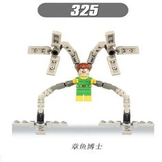 69.62$  Buy now - http://ali8a7.shopchina.info/1/go.php?t=32811374881 - 50Pcs XH 325 Building Blocks Super Heroes Star Wars Doctor Octopus Electric Man White Tiger Bricks Action Toys for children Gift  #aliexpresschina