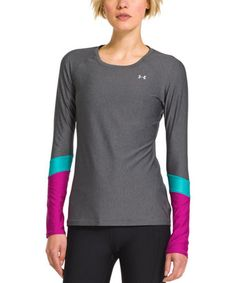 Look what I found on #zulily! Carbon Heather & Aqueduct HeatGear® Alpha Novelty Long-Sleeve Tee by Under Armour® #zulilyfinds