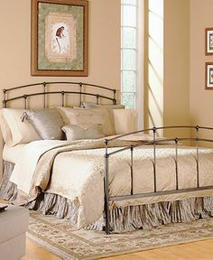 Turner Black Walnut California King Bed, Metal Bed Frame - Beds - furniture - Macy's