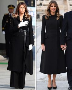 Melania Trump wears identical coats in Beijing and South Korea with Donald - Trump Melania, Melania Knauss Trump, First Lady Melania Trump, Melanie Trump, Milania Trump Style, Mode Mantel, First Ladies, Trump Is My President, White Fashion