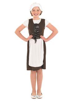 Tudor Girl childrens dress up costume by Fun Shack
