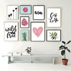 Set de 9 cuadros modernos - Wild and Free - Hoku Deco