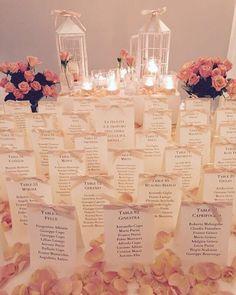 A lovely Tableau de Mariage! // #savoybeach #paestum #weddingideas…