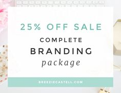 New to BreezieCastell on Etsy: Branding Package with logo business cards brand board color palette font selection stationary 40% off (750.00 USD)