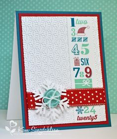"""Countdown by atsamom, via Flickr.  """"Stamps"""" from Stampin' Up's My Digital Studio."""