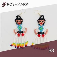 b5ff26685 Handmade Woman Earrings Recently purchased at craft show- features Woman  created from seed beads. Jewelry Earrings