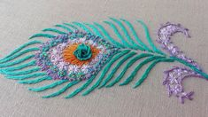 Peacock Embroidery Designs, Hand Embroidery Design Patterns, Hand Embroidery Videos, Embroidery Works, Creative Embroidery, Hand Embroidery Stitches, Embroidery For Beginners, Hand Embroidery Patterns, Floral Embroidery