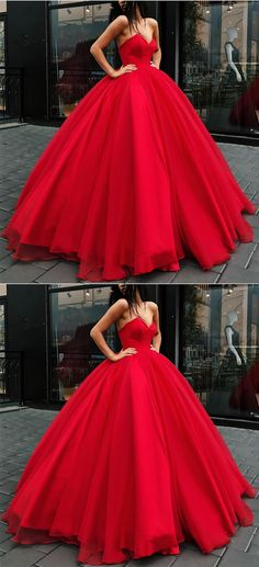 Red Tulle Ball Gowns Quinceanera Dresses Sleeveless Bodice Corset Prom Dress For Bridal's Engagement Party