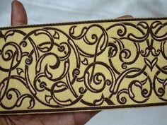 Lace Trims – Jacquard Ribbon Trimming Decorative Trim – a unique product by indianlacesandfabric on DaWanda