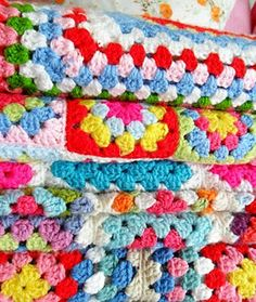 cath kidston style crocheted afghans