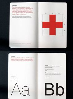Irish Red Cross Brand Guidelines by Creative Inc.  From: https://designschool.canva.com/blog/50-meticulous-style-guides-every-startup-see-launching/