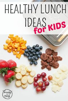 Healthy lunch ideas for kids school lunches.  I'm going to make this easy on everyone. The following is a list of great healthy options to make your lunch planning easier. You can pick and choose whatever you want {or let your kids choose}. Choose three or four things from the list, add a bottle of water, and you've got yourself a meal. Check out the list here.