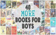 40-MORE-Books-for-Boys   -   http://www.milkandcookiesblog.com/2013/02/40-more-books-for-boys.html