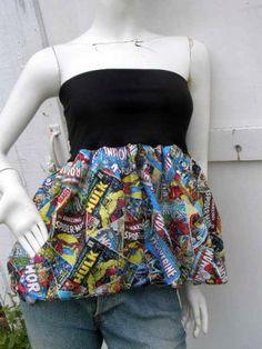 5a3235500b Marvel Comic Books Captain America Thor Iron Man Hulk retro geek Skirt  shirt S-XL