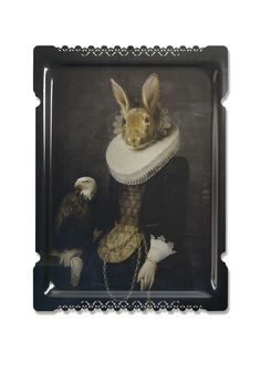 Zhao rabbit tray by Ibride | archdigest.com