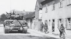 47th tank battalion 14th armored division in  Hesselbach Germany 8 april 1945