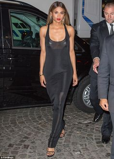Ciara.. black.. sultry.. sheer.. Mademoiselle C premiere.. PFW..