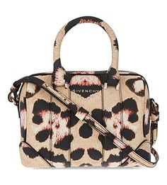 GIVENCHY Lucrezia Mini Leopard-Print Shoulder Bag. #givenchy #bags #shoulder bags