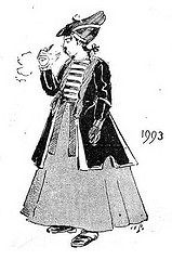 Prediction in 1893 of fashion styles in 1993 by Public Domain Review, via Flickr